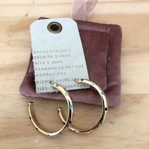 NWT Anthropologie baublebar hoop crystal earrings